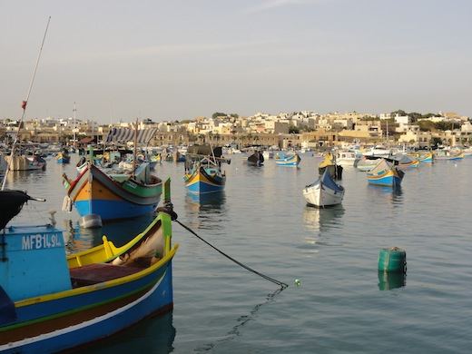 De haven van Marsaxlokk.