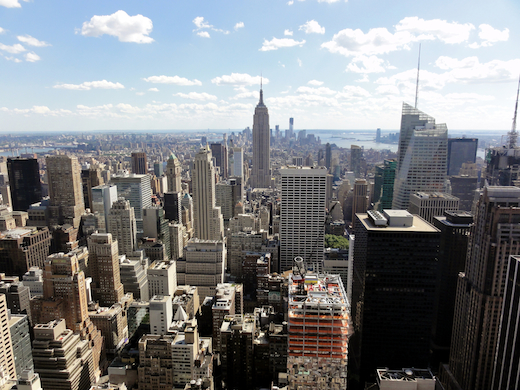 The Big Apple: New York City.