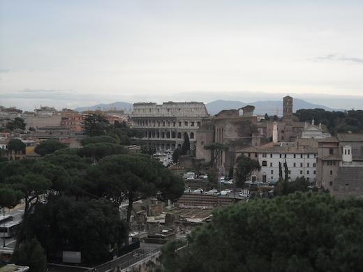 Het Colosseum in het oude Rome.