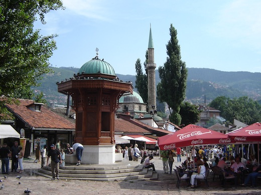 Het oude Turkse deel in Sarajevo.