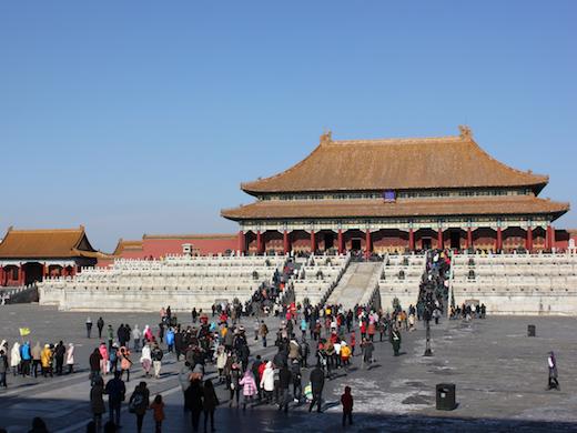 De verboden stad in Beijing.