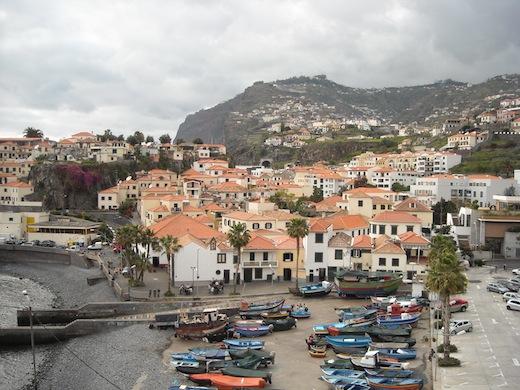 Camara de Lobos op Madeira, vroeger vaak bezocht door Winston Churchill.