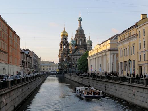 De Kerk van de Verlosser op het Bloed in Sint-Petersburg.