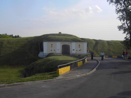In Brest bevindt zich een oud fort uit de Tweede Wereldoorlog.