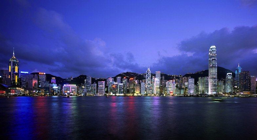 wolkenkrabbers hongkong island