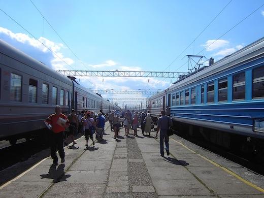 Een dag later wordt de reis vervolgd en komen we twee dagen later aan in Irkutsk.