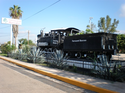 Het beginpunt van de treinreis in Los Mochis.
