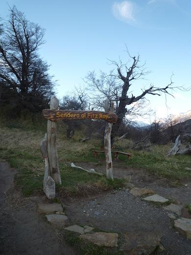 Het wandelpad naar Cerro Fitz Roy.
