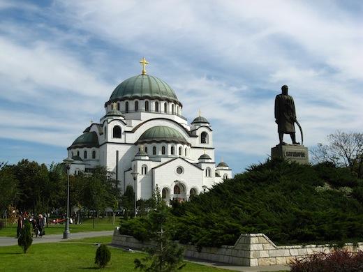 Kathedraal van de Heilige Sava, de grootste kerk van Zuid-Europa.