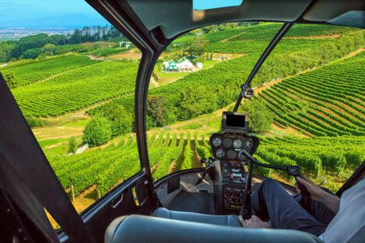 wijntour per helicopter